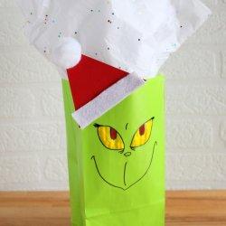 grinch paper bag craft