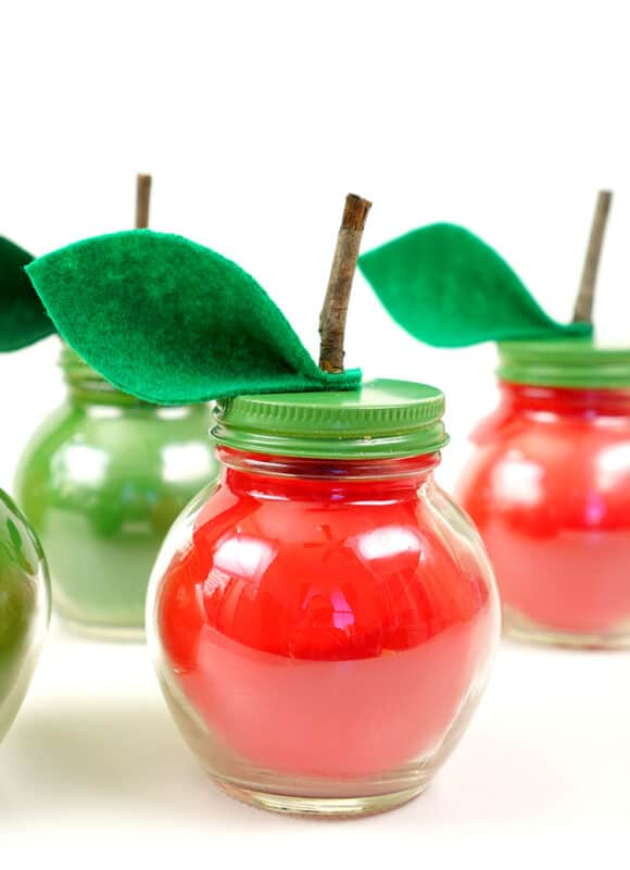 diy soy candles that look and smell like apples