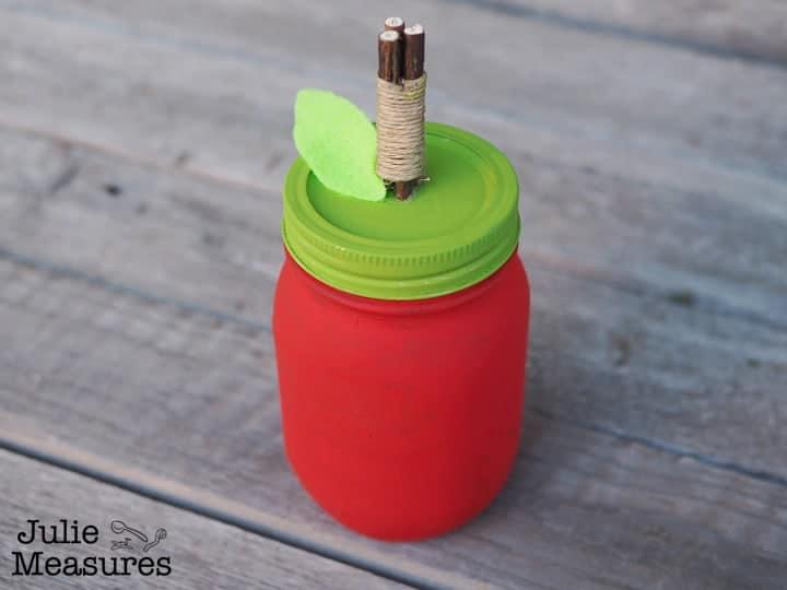 mason jar apple