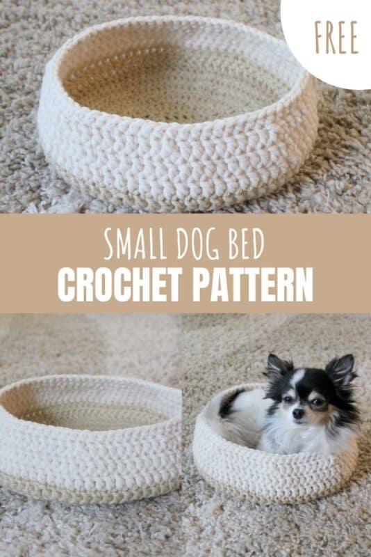 small dog bed free crochet pattern