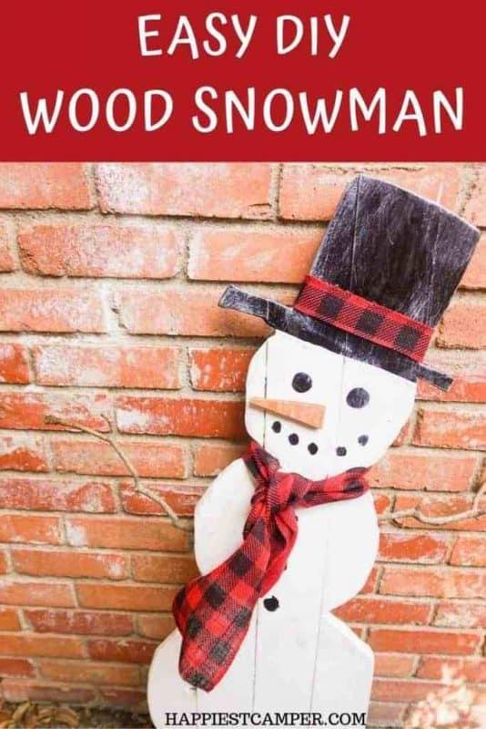 easy diy wood snowman x