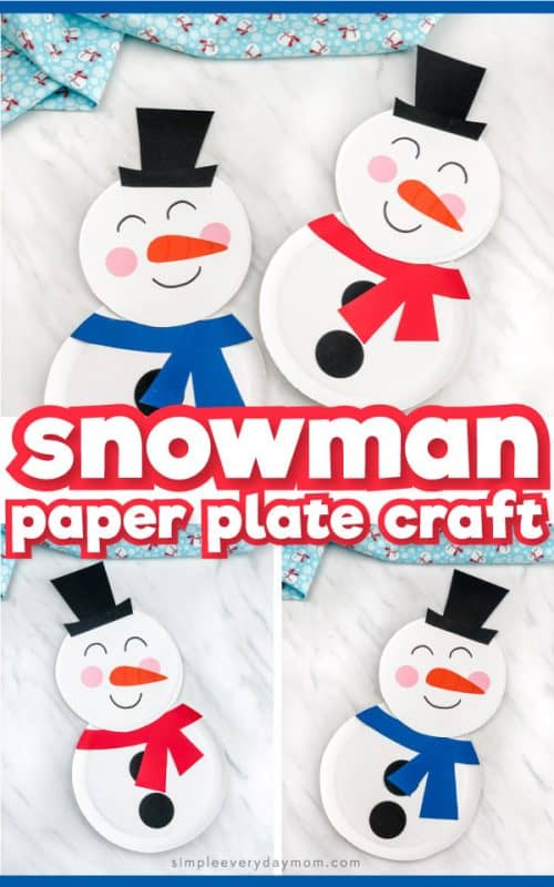 how to make paper plate snowman craft pinterest image