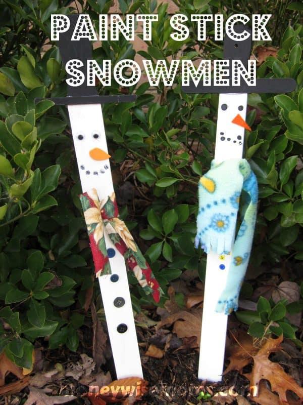 paint stick snowmen