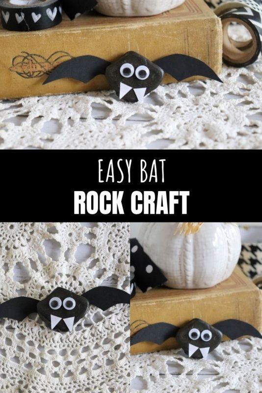 easy bat rock craft