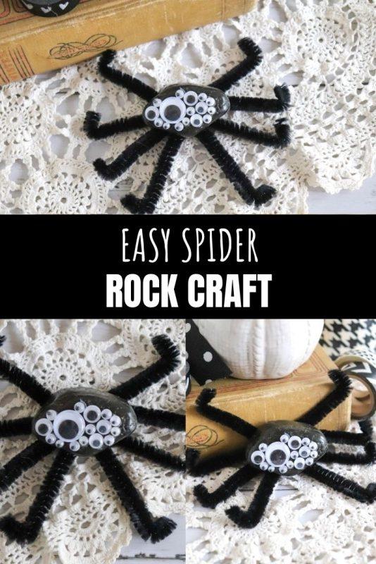 easy spider rock craft