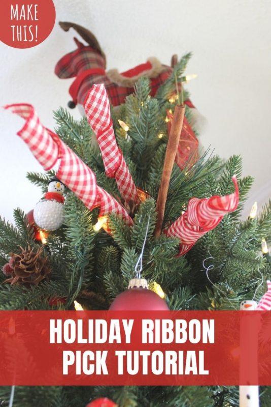 Holiday Ribbon Pick Tutorial