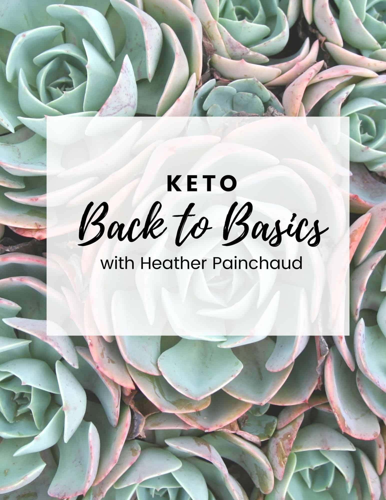 keto back to basics workbook title