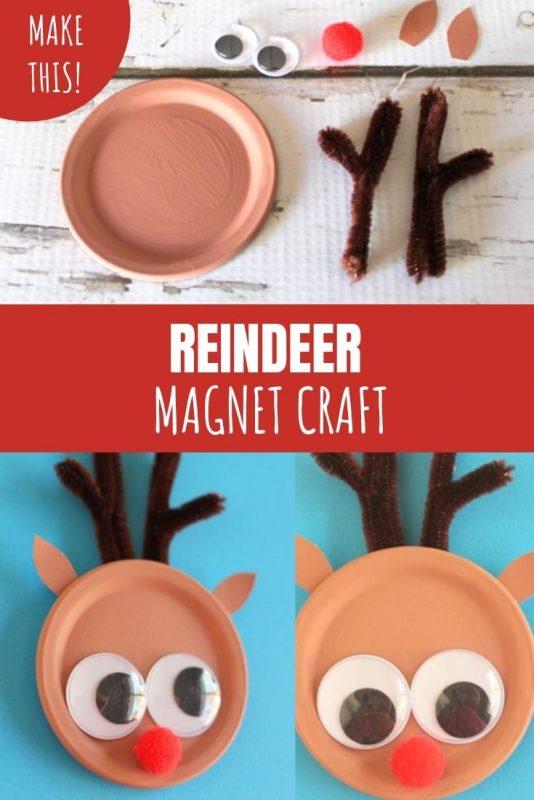 reindeer craft magnet