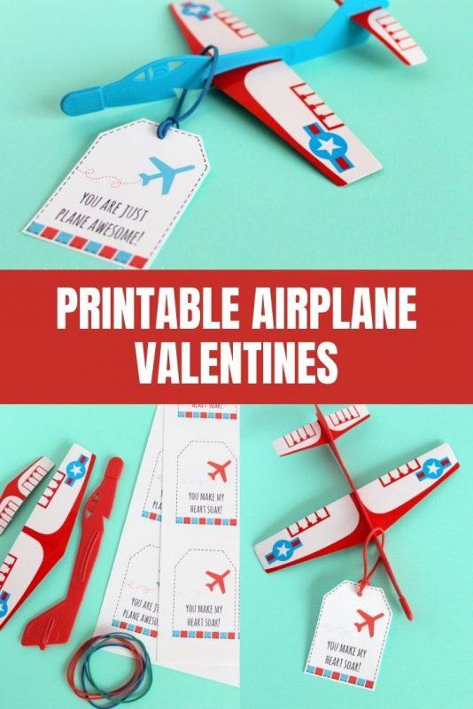 airplane valentine printable