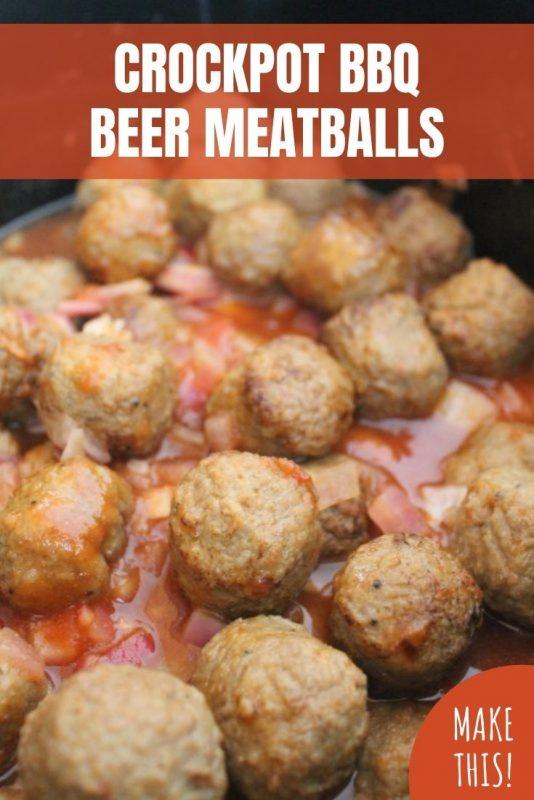 crockpot bbq beer meatballs