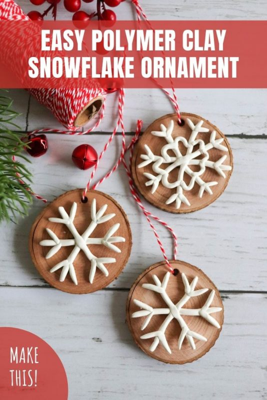 easy polymer clay snowflake ornament