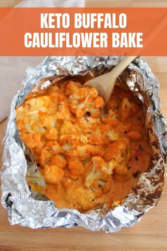 keto buffalo cauliflower bake
