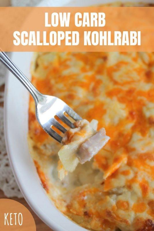 keto low carb scalloped kohlrabi