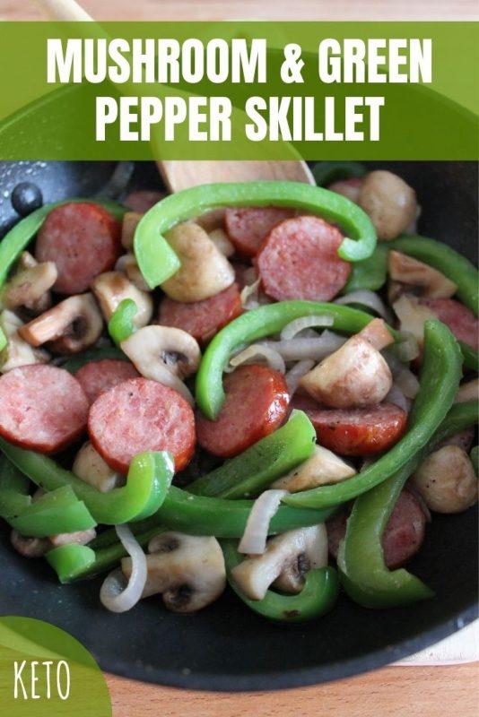 mushroom and green pepper skillet