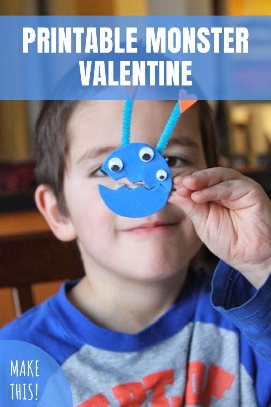 printable monster valentines