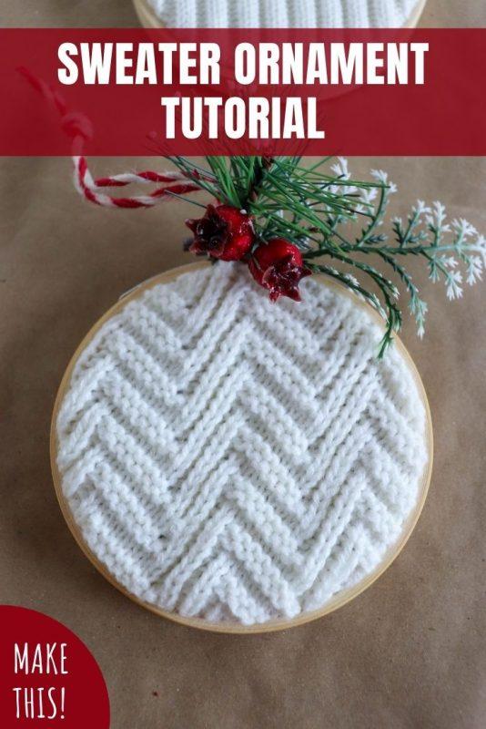 sweater ornament tutorial