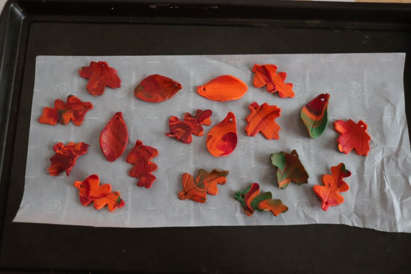 clay leaf craft