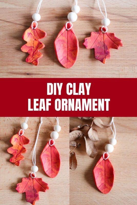 clay leaf ornament craft