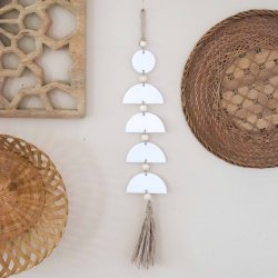diy clay boho wall hanging