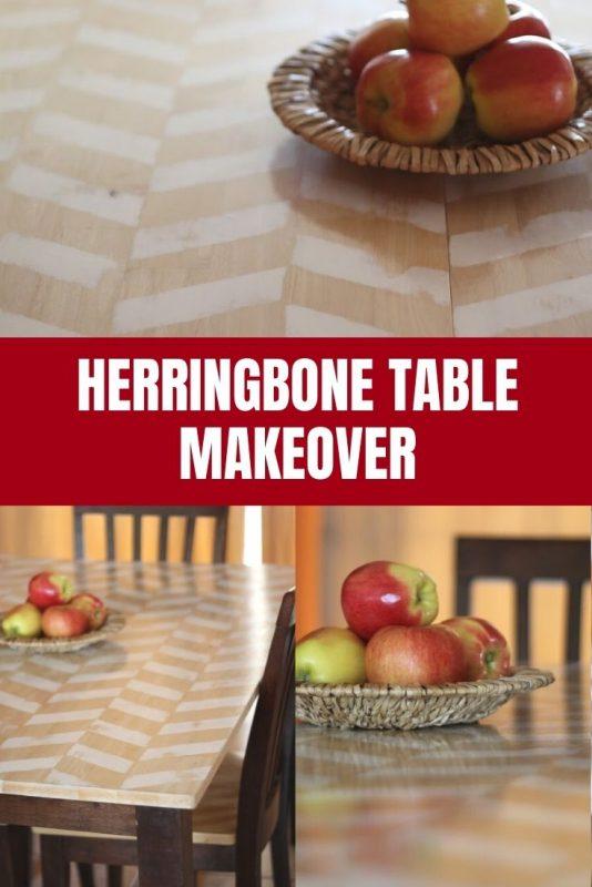 diy herrignbone table