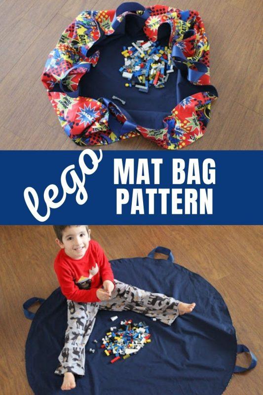 free lego mat bag pattern