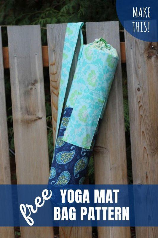 free yoga mat bag pattern