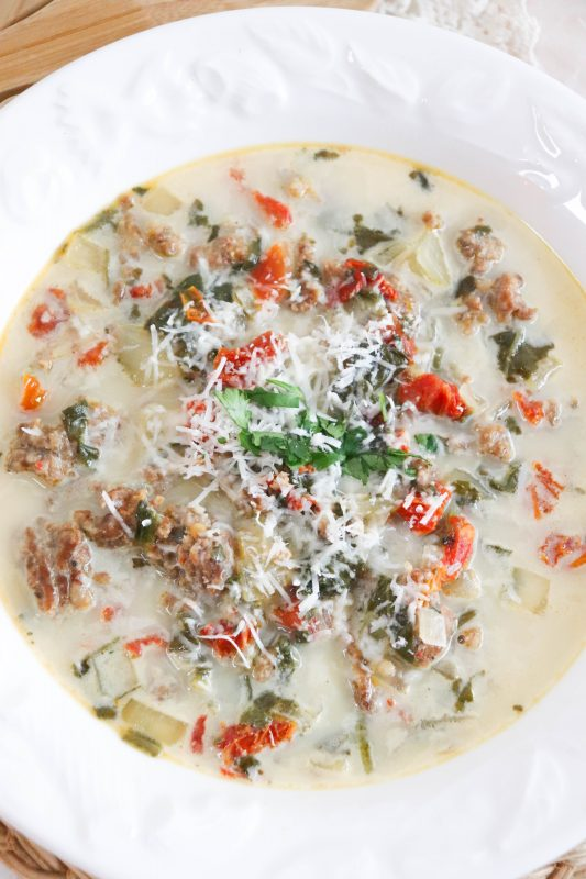 keto tuscan soup recipe
