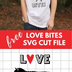 love bites svg cut file