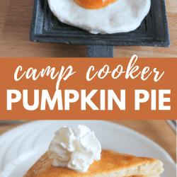 camp cooker pumpkin pie