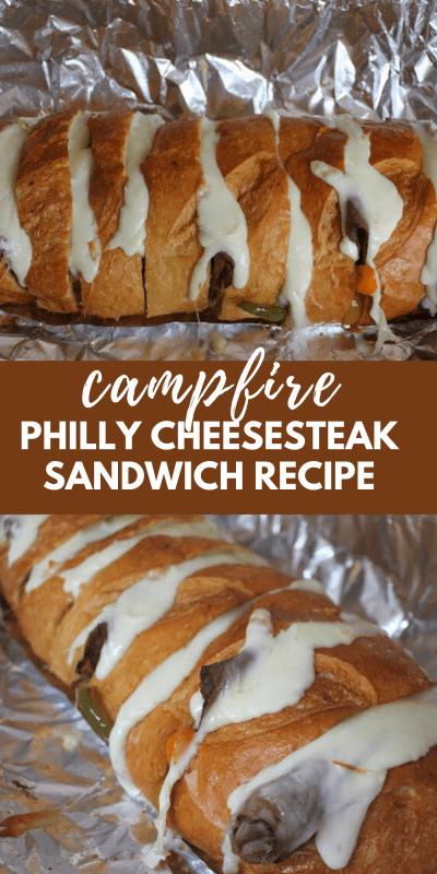 campfire philly cheesesteak sandwich recipe