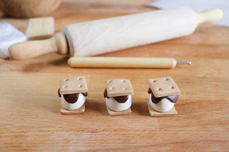 clay smores craft process