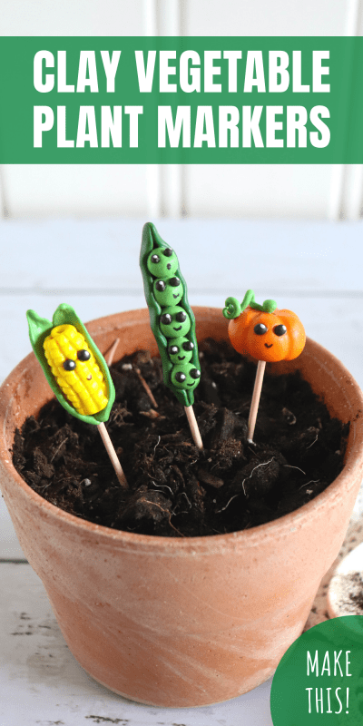 clay vegetable plant markers