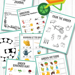 gardening printable activity sheets