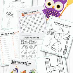 halloween prinatable activity sheets