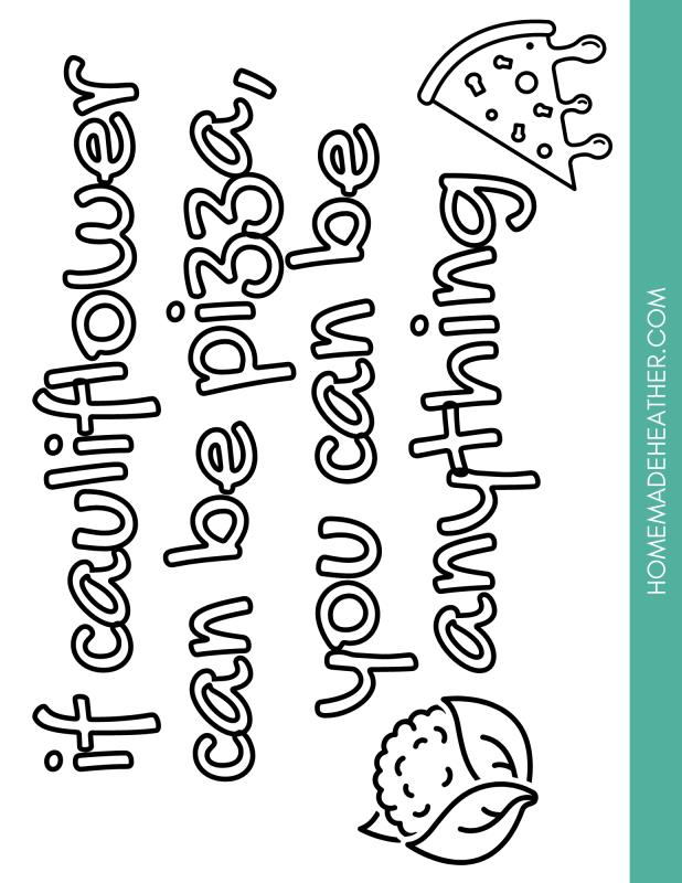 keto printable coloring sheet