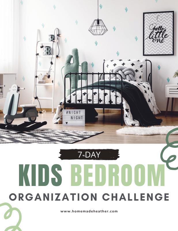 kids bedroom organization challenge