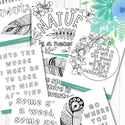 nature printable coloring sheets