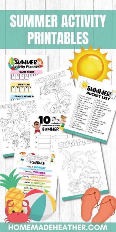 summer activity printables