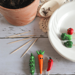 vegetable clay plant markers