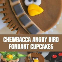 chewbacca angry bird cupcake tutorial