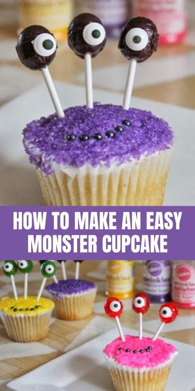 easy to make monster cupcake
