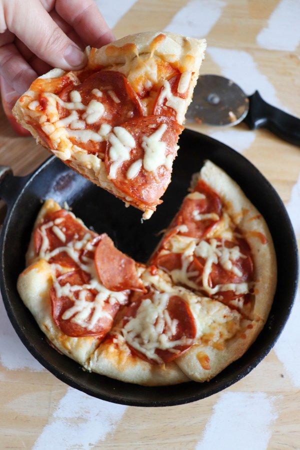 Camping Skillet Pizza Recipe