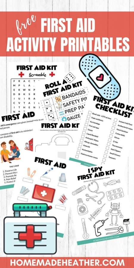 First Aid Activity Printables