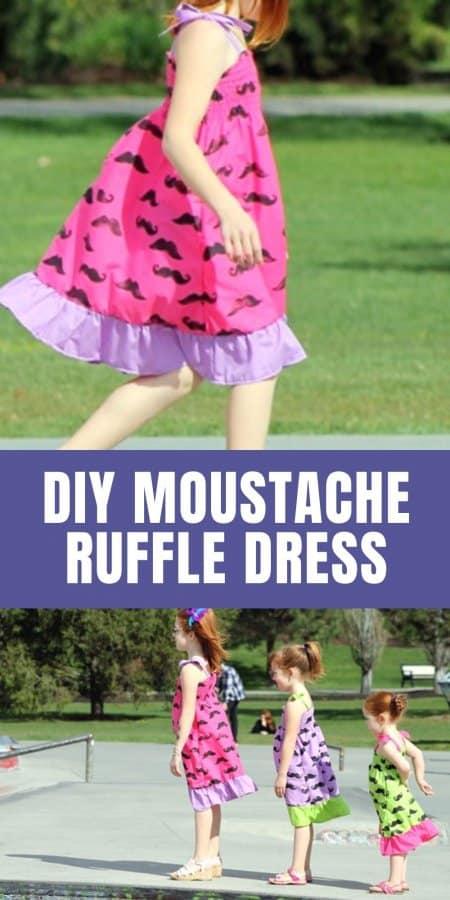 Moustache Ruffle Dress Tutorial