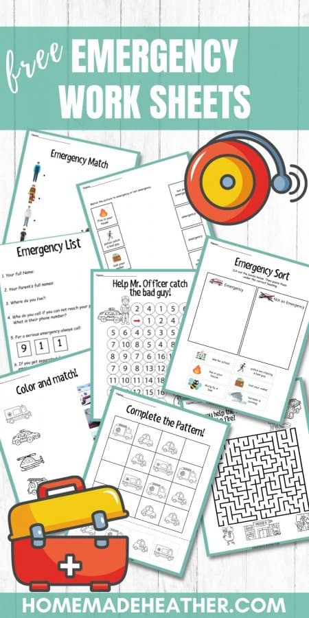 Emergency Printable Work Sheets