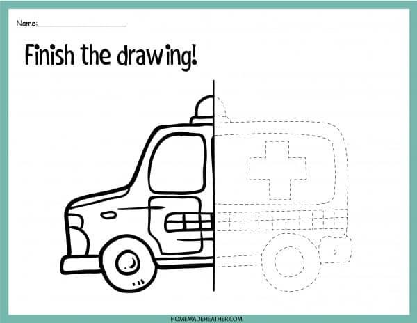 Emergency Printable Drawing