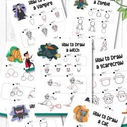 Free Halloween Drawing Printables