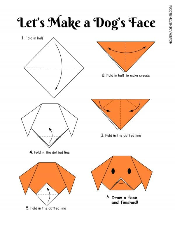 Free Origami Dog Printable Design