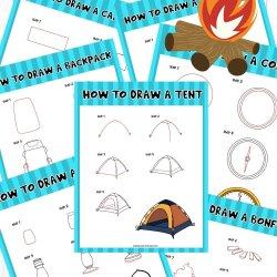 Free Drawing Camping Printables