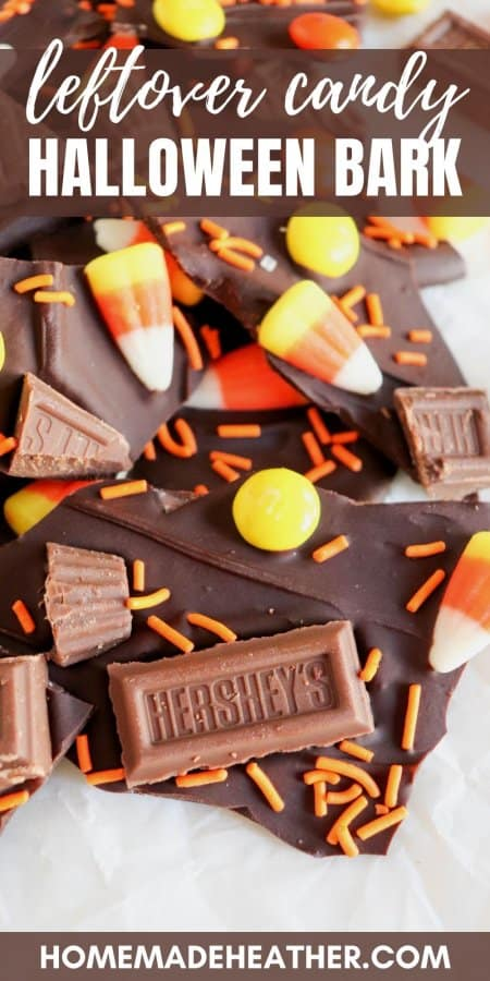 Leftover Candy Halloween Bark